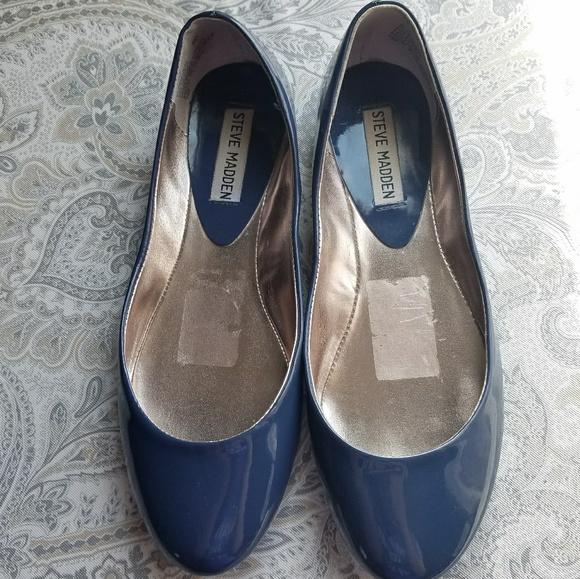 5994853e7cf Steve madden blue patent heaven ballet flats