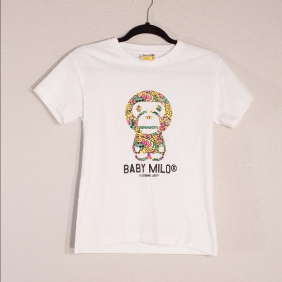 2a9ee746a BAPE Tops | Nwt Baby Milo A Bathing Ape Tshirt | Poshmark