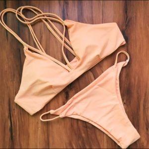 Bella Victoria Boutique Other - Yamileth- Peachy Nude Strappy Bikini Set