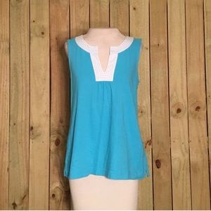 Lilly Pulitzer blue sleeveless Blouse