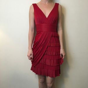 BCBGMaxAzria Dresses & Skirts - NWT BCBGMaxAzria JUNE  Pleated New Red Dress