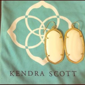 Kendra Scott White Earrings