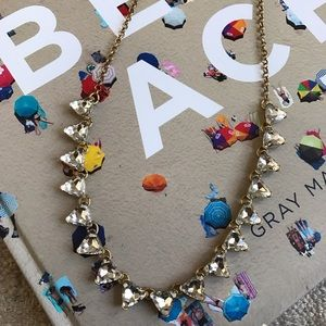 J.Crew Crystal Triangle Necklace
