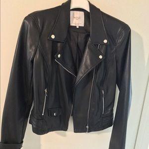Zara faux leather black jacket women's size Medium