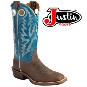 Justin Boots Other - Justin Bent Rail Puma Square Toe Boot Size 13