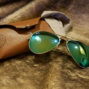 Ray-Ban Accessories - Ray-Ban Aviators blue/green mirrored lens