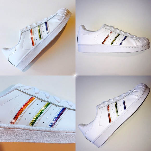 8de66d5c60775 Bling Adidas Superstars with Swarovski Crystals Boutique