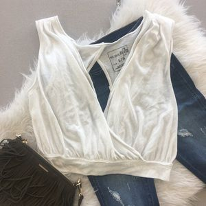 Free People Dream Surplice Tank in Ivory