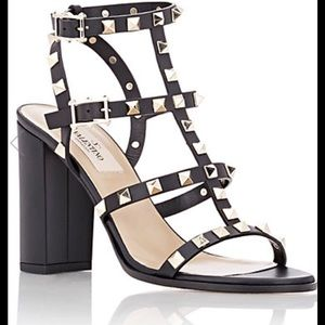 Valentino Shoes - VALENTINO ROCKSTUD TRIPLE STRAP SANDALS