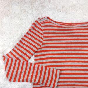J. Crew Tops - J.CREW orange+grey painter's tee