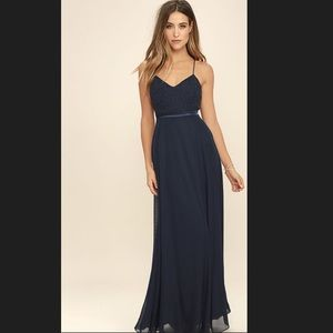 LuLus Dresses & Skirts - LuLus - Stealing Kisses Navy Blue Dress