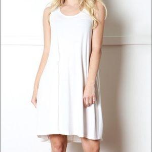 Zenana Outfitters Dresses & Skirts - Ivory Sleeveless Dress