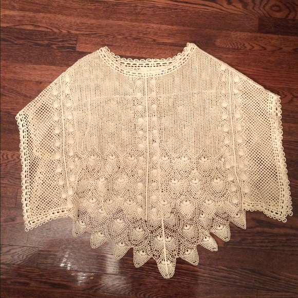 Anthropologie Tops - Anthropologie Sparrow crochet top XS/S NWOT