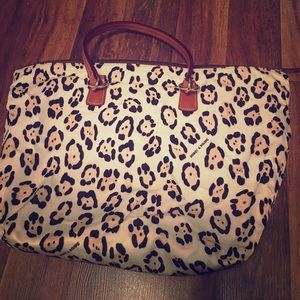 Leopard Print Dooney and Bourke Tote Purse