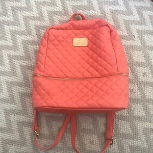 bebe Handbags - Coral Bebe leather backpack