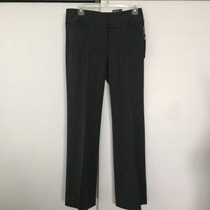 Express Pants - NWT grey and white striped editor flare pants