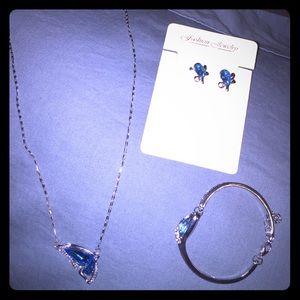 ALLOY Jewelry - Silver butterfly 3piece jewelry set,very beautiful