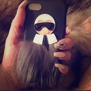 🖤Chanel's Karl Lagerfeld iPhone Cellphone Case