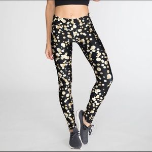 Goldsheep Pants - Goldsheep Gold Confetti leggings