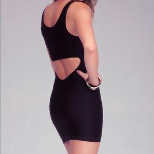 Black Bebe cut out dress size S