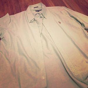 Green Polo Ralph Lauren Oxford Shirt Size 16