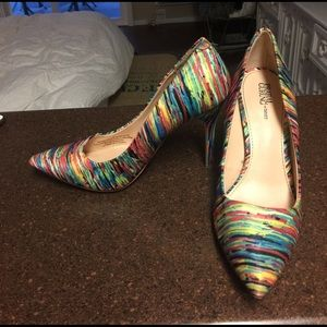 Prabal Gurung for Target Multi Colored Heels Sz 8