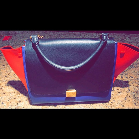ff35d693db9d Celine Handbags - Celine Trapeze Colorblock red