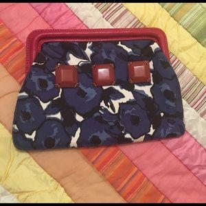 Boden Handbags - Boden Blue Flowery Print Clutch
