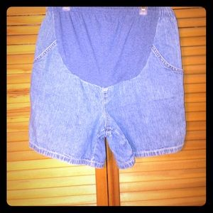 Motherhood Maternity Pants - Induetime maternity jean shorts.