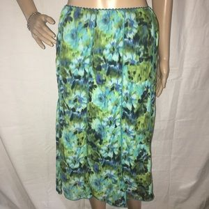 Pretty green and blue floral Dress Barn skirt