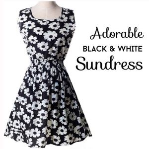 Beautiful black and white floral sundress