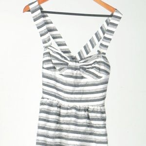 Leona Edminston Dresses & Skirts - Leona Stipe Grey Dress