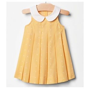 GAP Peter Pan Collar Yellow Polka Dot Print Dress