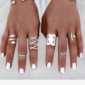 Jewelry - 8 PIECE BOHO RINGS ⚡️SALE NO OTHER DISC NO OFFERS