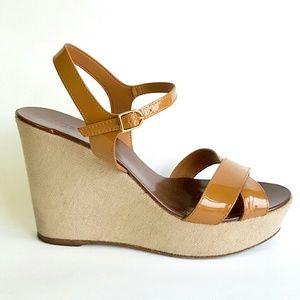J. Crew Shoes - J.Crew Patent Leather Wedge Sandal