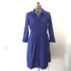 Eileen Fisher Dresses & Skirts - Eileen Fisher Royal Blue Linen Shirt Dress // S