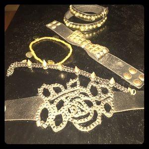 Jewelry - Lot of copper studded bracelets