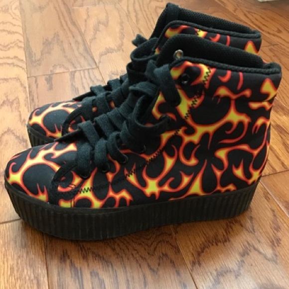 a963d7752d8 Jeffrey Campbell Shoes - Jeffrey Campbell Flame Platform Sneakers