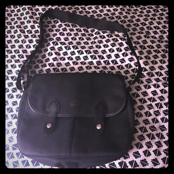 c0b9ca816a9c Longchamp Handbags - Longchamp les planetes black nylon messenger bag