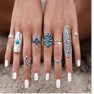 Jewelry - BOHO RING SET ⚡️SALE NO OTHER DISC NO OFFERS