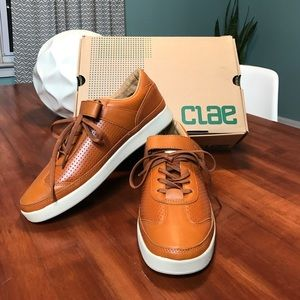 Clae Other - Clae orange leather sneakers
