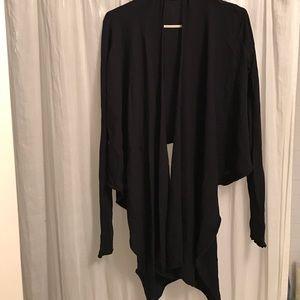Velvet Tops - Velvet black cotton wrap top