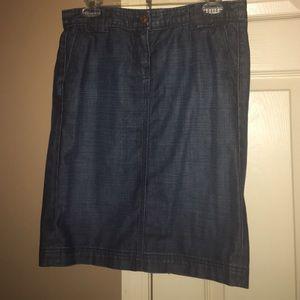 Denim J. Crew Skirt
