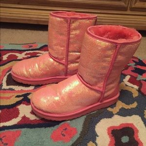 real red sparkle uggs