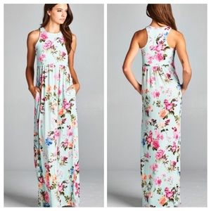 Mint racerback maxi dress