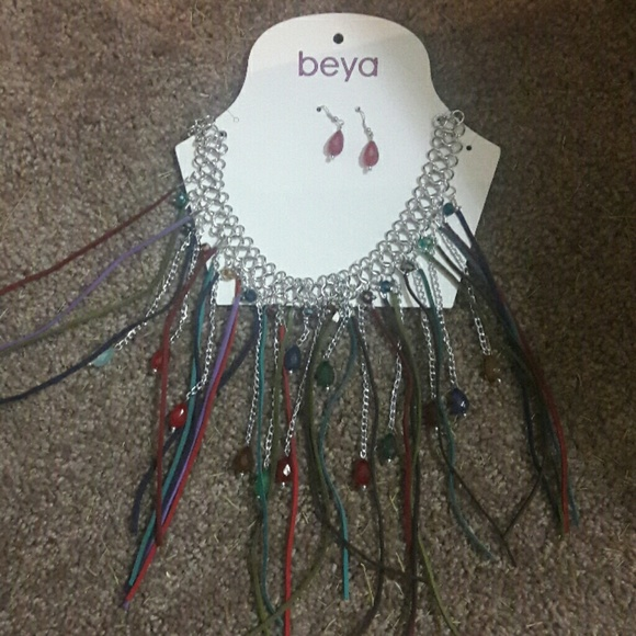60 beya jewelry boho necklace and earrings set
