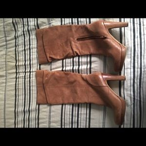 Jessica Simpson distressed leather slouch boots