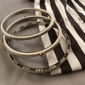 henri bendel Jewelry - Henri Bendel nautical bangle set w/ crystals
