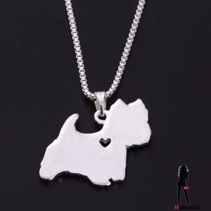 October Love Jewelry - Yorkie Silverplate  Necklace