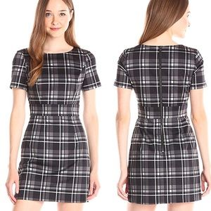 NWT French Connection Plaid Clarence Dress 8